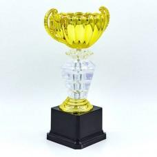 Кубок спортивный с ручками PREMIUM C-139A (пластик, h-26см, b-16см, d чаши-10см, золото)