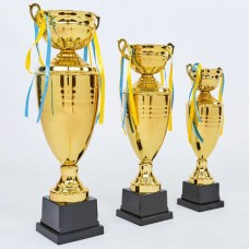 Кубок спортивный с крышкой и чашей CUP C-1505A (металл, h-57см, b-16см, d чаши-12см, золото)