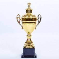 Кубок спортивный с ручками и крышкой GRAND C-1506D (металл, h-36см, b-17см, d чаши-10,5см, золото)