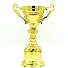 Кубок спортивный с ручками h-32см C-296С (пластик, h-32см, d чаши-12см, золото)