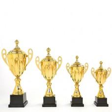 Кубок спортивный с ручками и крышкой GREAT C-4060A (металл, h-53см, b-25см, d чаши-16см, золото)