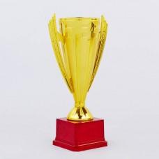 Кубок спортивный с ручками REWARD C-5007A (металл, пластик, h-36см, b-21см, d чаши-12см, золото)