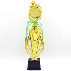 Кубок спортивный с ручками, крышкой и местом под жетон HOPE C-6771C (металл, пластик, h-43см, b-11,5см, золото)