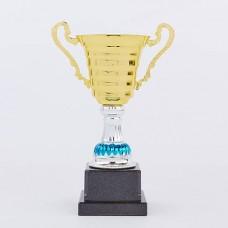 Кубок спортивный с ручками h-27см C-8319C (металл, пластик, h-27см, b-17,5см, d чаши-10,5см, золото)