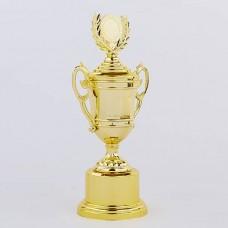 Кубок спортивный с ручками, крышкой и местом под жетон LIBERTY C-894-2A (h-31см, b-14см, d-8см, золото)