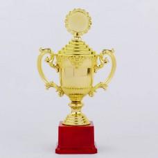 Кубок спортивный с ручками, крышкой и местом под жетон h-29,5см C-896-3B (h-29,5см, b-16см,d-9см,зол)