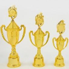 Кубок спортивный с ручками, крышкой и местом под жетон CHIC C-8972A (h-56см, b-22см, d -12см, золото)