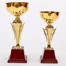 Кубок спортивный C-913B (металл, пластик, h-36см, b-14см, d чаши-14см, золото)
