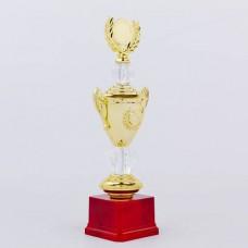 Кубок спортивный с ручками, крышкой и местом под жетон HIT C-K978A (h-33см, b-12см, d-8см, золото)