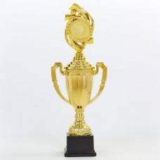 Кубок спортивный с ручками, крышкой и местом под жетон h-41см DS897C (h-41см, b-15см, d-8см, золото)