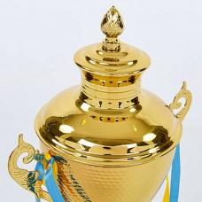Кубок спортивный с ручками и крышкой HEIGHT G104C (металл, h-45см, b-19см, d чаши-17см, золото)