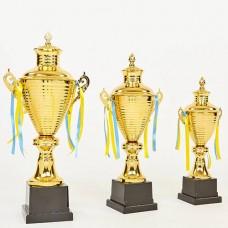 Кубок спортивный с ручками и крышкой FAIRY G108A (металл, h-55см, b-24см, d чаши-16см, золото)