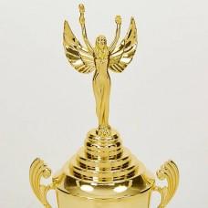 Кубок спортивный с ручками, крышкой и местом под жетон NIKA HB4050A (пластик, h-48см, b-16см, d чаши-11см, золото)