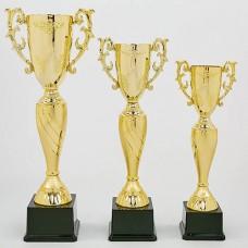 Кубок спортивный с ручками OLYMP HB4057A (пластик, h-45см, b-19см, d чаши-10см, золото)