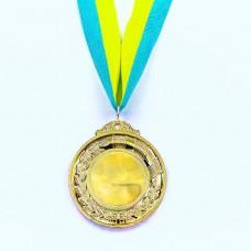 Заготовка медали спортивной с лентой HIT d-6см C-3218 (металл, 30g, 1-золото, 2-серебро, 3-бронза)