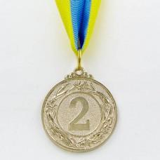 Медаль спортивная с лентой FURORE d-5см C-4868 (металл, d-5см, 25g золото, серебро, бронза)
