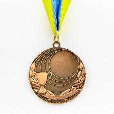 Заготовка медали спортивной с лентой PLUCK d-5см C-4844 (металл, 25g, 1-золото, 2-серебро, 3-бронза)