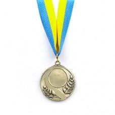 Заготовка медали спортивной с лентой SKILL d-5см C-4845 (металл, 25g, 1-золото, 2-серебро, 3-бронза)