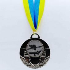Медаль спортивная с лентой AIM d-5см Бильярд C-4846-0021 (металл, 25g, 1-золото, 2-серебро, 3-бронза)