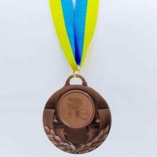 Медаль спортивная с лентой AIM d-5см Велогонки C-4846-0036 (металл, 25g, 1-золото, 2-серебро, 3-бронза)