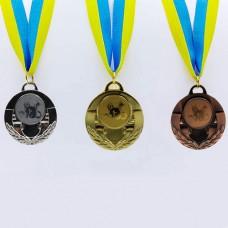 Медаль спортивная с лентой AIM d-5см Кошки C-4846-0061 (металл, 25g, 1-золото, 2-серебро, 3-бронза)