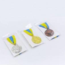 Заготовка медали спортивной с лентой AIM d-5см C-4846 (металл, 25g, 1-золото, 2-серебро, 3-бронза)
