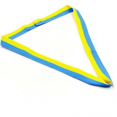 Лента для медали спортивной C-6312 (полиэстер, l-60см, желтый-голубой)