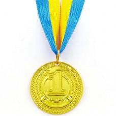 Медаль спортивная с лентой CELEBRITY d-4,5см C-6406 (металл, d-4,5см, 20g 1-золото, 2- серебро,3-бронза )