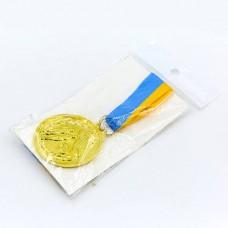 Медаль спортивная с лентой Футбол d-5см C-7016-F (металл, d-5см, 25g, 1-золото, 2-серебро, 3-бронза)
