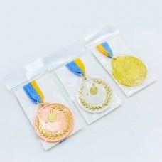 Медаль спортивная с лентой двухцветная d-6,5см Настольный теннис C-7028 место (металл,покр. 2тона, 56g, 1-золото, 2-серебро, 3-бронза)