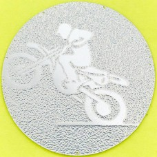 Наклейка (жетон) на медаль, кубок d-2,5см Мотогонки 25-0035 (1, 2, 3 место, 1уп.-120шт, цена за 1шт)