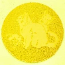 Наклейка (жетон) на медаль, кубок d-2,5см Кошки 25-0061 (1, 2, 3 место, 1уп.-120шт, цена за 1шт)