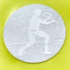 Наклейка (жетон) на медаль, кубок d-2,5см Большой теннис 25-0079 (1,2,3 место,1уп.-120шт,цена за1шт)