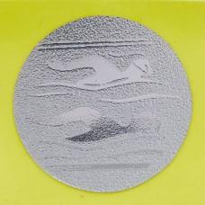 Наклейка (жетон) на медаль, кубок d-2,5см Плавание 25-0090 (1,2,3 место, 1уп.-120шт, цена за 1шт)