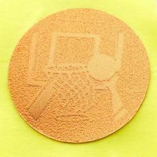 Наклейка (жетон) на медаль, кубок d-2,5см Баскетбол 25-0108 (1, 2, 3 место, 1уп.-120шт, цена за 1шт)