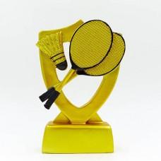 Статуэтка (фигурка) наградная спортивная Бадминтон C-1289-B5 (р-р 16х11х3,5см)