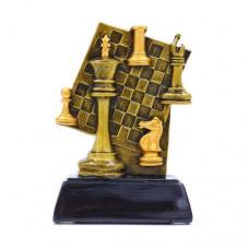 Статуэтка (фигурка) наградная спортивная Шахматы Шахматная доска C-1627-B (р-р 13х9,5х4,5 см)