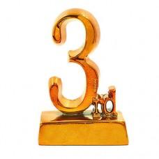 Статуэтка (фигурка) наградная 3-е место C-1699-C4 (р-р 14х9х4,5 см)
