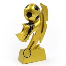 Статуэтка (фигурка) наградная спортивная Футбол Бутса с мячем золотая C-1720-A (р-р 19,5х9,5х4 см)