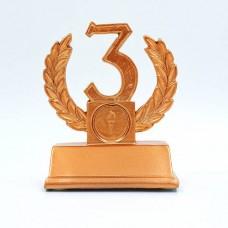 Статуэтка (фигурка) наградная Лавровая ветвь 3-е место C-2393-C9 (р-р 11,5х9х5 см)