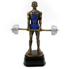 Статуэтка (фигурка) наградная спортивная Тяжелая атлетика Штангист C-2457-B8 (р-р 18х14х5,5 см)