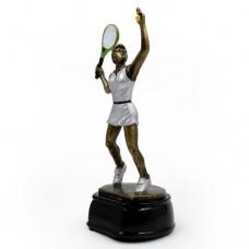 Статуэтка (фигурка) наградная спортивная Большой теннис женский C-2688-B11 (р-р 23х10х9 см)