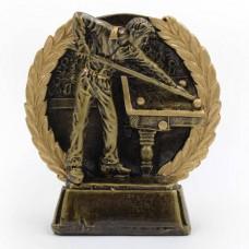 Статуэтка (фигурка) наградная спортивная Бильярд Бильярдист C-3195-C (р-р 11,5х12х4 см)