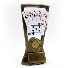 Статуэтка (фигурка) наградная спортивная Карточные игры C-3339-B8 (р-р 18х10х8 см)