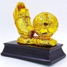 Статуэтка (фигурка) наградная спортивная Футбол Бутса с мячем золотая C-3793-B2 (р-р 15х14х8 см)