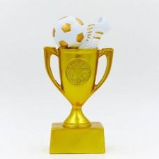 Статуэтка (фигурка) наградная спортивная Футбол Кубок и Бутса с мячем C-4664-B16 (р-р 16х8х4,5 см)