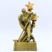 Статуэтка (фигурка) наградная спортивная Хоккей Хоккеист HX4632-C (р-р 8х3х15 см)