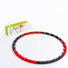 Обруч массажный Hula Hoop PS HR-045 MASSAGE HOOP (1,1кг, пластик, неопрен, 6 секций, d-100см)