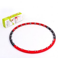 Обруч массажный Hula Hoop PS HR-046 MASSAGE HOOP (1,5кг, пластик, неопрен, 6 секций, d-100см)
