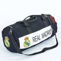 Сумка для тренировок с символикой футбольного клуба REAL MADRID GA-5633-4 (р-р 53х25см,черный-белый)
